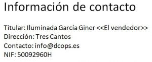 Informacion de Contacto DCops