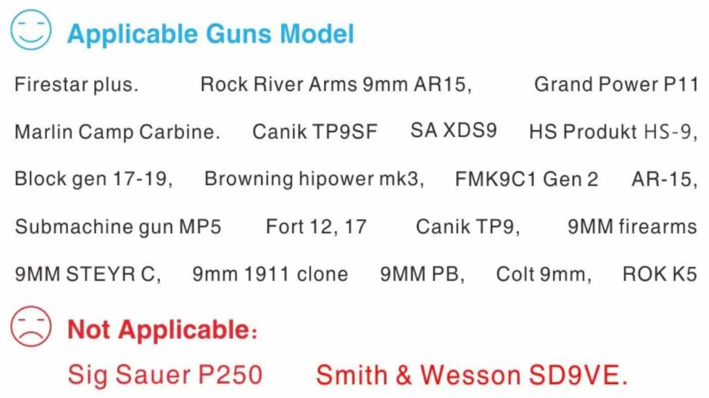 Yimtech - Armas compatibles con este sistema