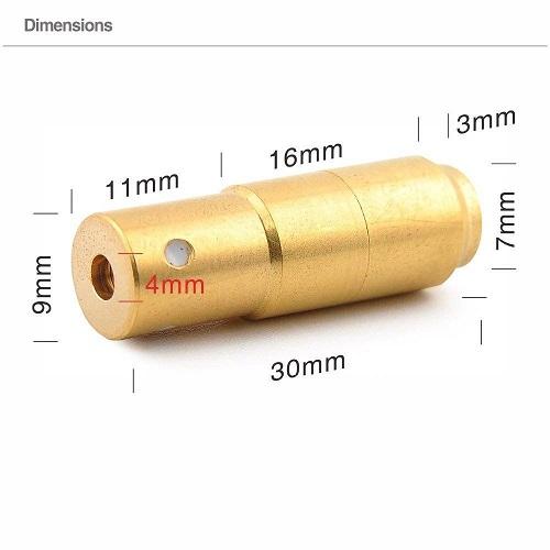 Dimensiones Punto rojo 9mm